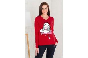 Блуза женская 0441-05 красный