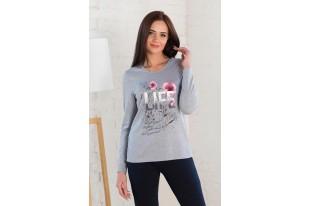 Блуза женская 0441-08 серый меланж