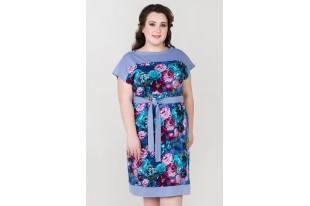 Платье женское 0912 хлопок лаванда
