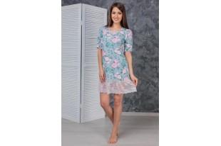 Платье женское Цветущий сад кулирка с лайкрой