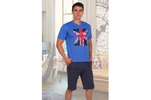 Мужской домашний костюм Британец шорты