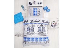 Постельное белье Ранфорс MOLLY голубой
