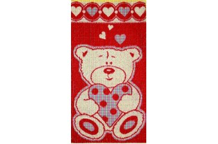 Полотенце Влюбленчик медведик махра