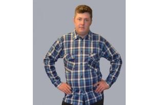 Сорочка мужская Фланель
