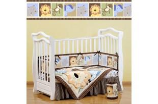 Комплект для кроватки Leo jungle поликоттон 7 предметов