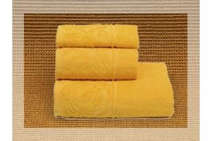 Полотенце Цветок желтый махра