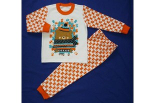 Пижама детская Пазл Мишка интерлок
