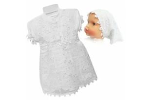 Платье крестильное детское 6037 с косынкой интерлок