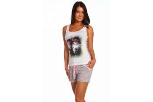 Пижама женская Два котенка шорты кулирка