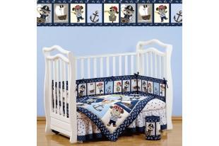 Комплект для кроватки Piratic поликоттон 7 предметов