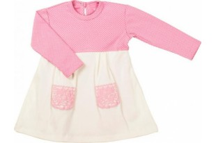 Боди-платье детское Горошинка интерлок