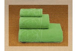 Полотенце Цветок светло-зеленый махра