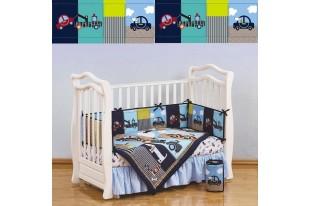 Комплект для кроватки Transportation поликоттон 7 предметов
