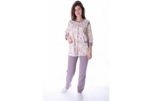 Пижама женская Талисман розовый футер