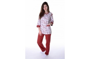 Пижама женская Талисман бордо футер