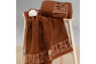 Набор полотенец Коричневый махра бамбук
