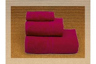 Полотенце Цветок малина махра
