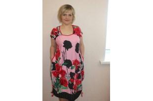 Платье женское П842 кулирка
