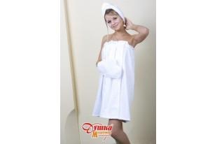 Набор для сауны женский белый махра