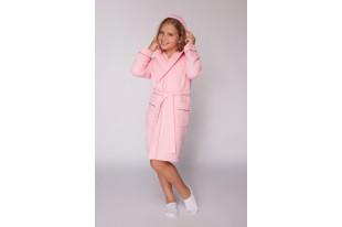 Халат детский вафельный на девочку розовый
