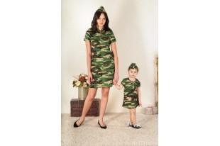 Платье женское Милитари кулирка
