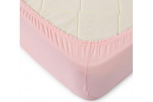Простыня на резинке Текс Дизайн розовый