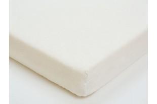 Простыня на резинке Белая фланель
