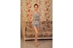Пижама женская Миша кулирка