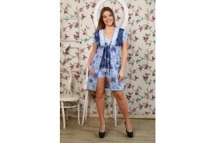 Комплект женский с пижамой голубой кулирка