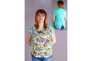 Блуза женская Домино попугай вискоза