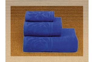 Полотенце Цветок синий махра