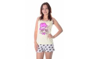 Пижама женская Енот трикотаж