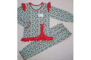 Пижама детская с оборками кулирка