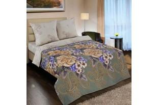 Постельное белье Золотая вышивка с простыней на резинке 160*200