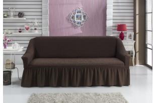 """Чехол для дивана """"BULSAN"""" двухместный коричневый"""