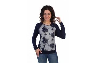 Джемпер женский с кружевной полочкой вискоза