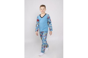 Пижама-реглан детская футер