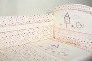 Комплект для кроватки Домик для птички сатин 6 предметов