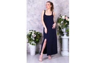 Платье женское П 214 вискоза тёмно-синий