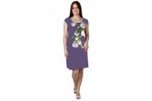 Платье женское Тюльпаны масло