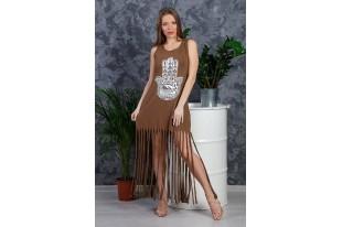 Платье женское Рванка вискоза мокко